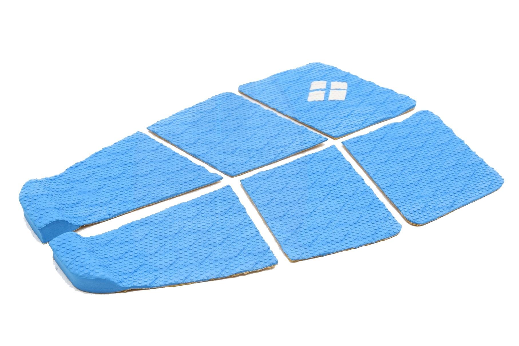 Deck Surf 6 Partes Rubber Sticky Azul | Prancharia