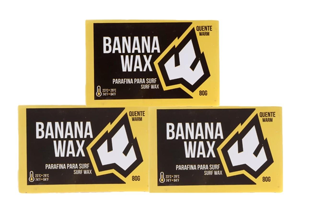 Kit com 3 Parafinas Banana Wax Água Quente Prancharia