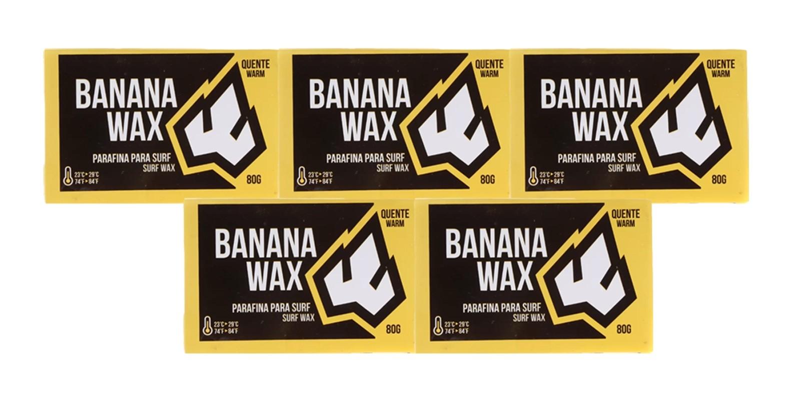 Kit com 5 Parafinas Banana Wax Água Quente Prancharia