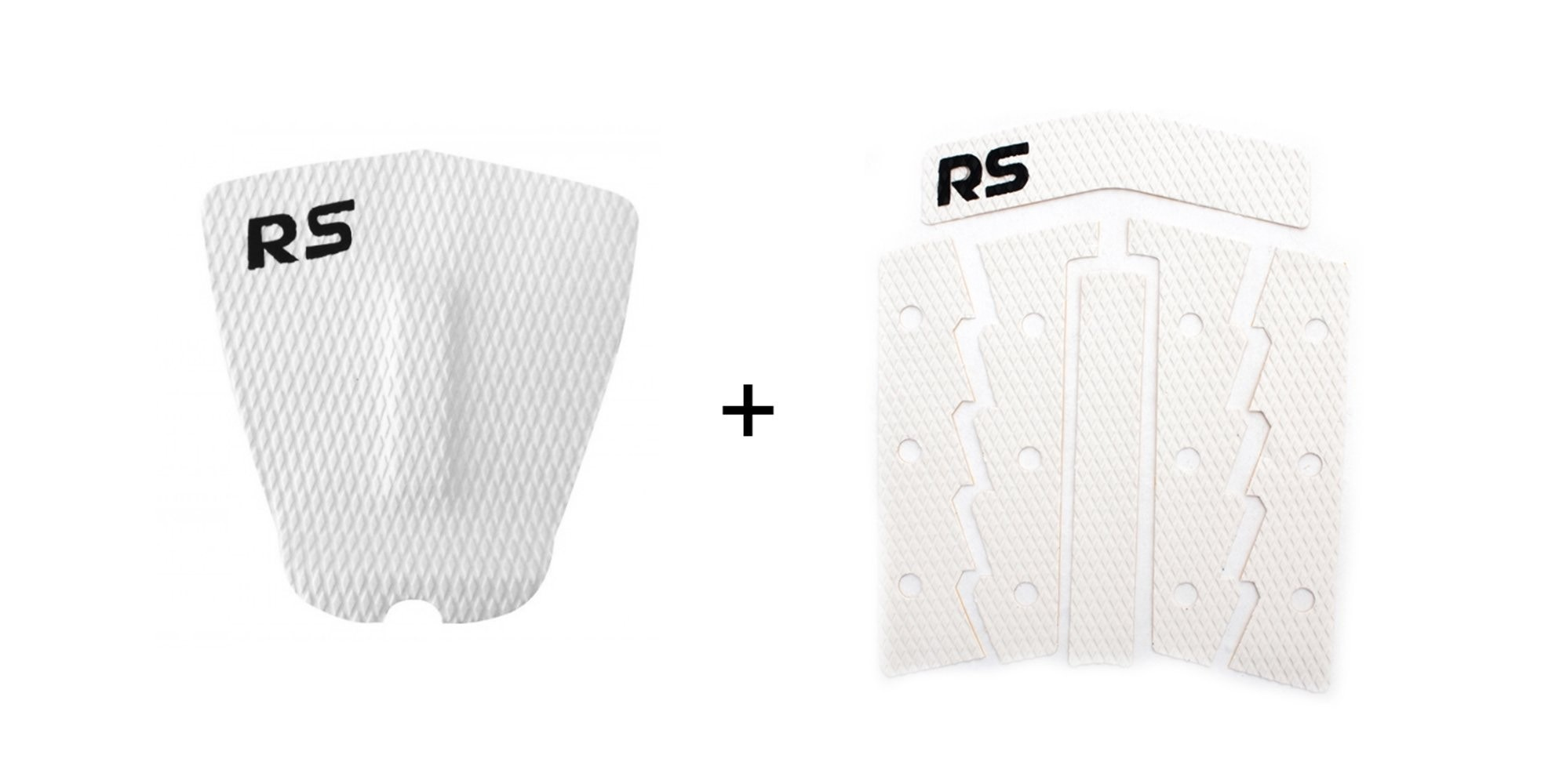 Kit Deck Antiderrapante Frezado Squash RS + Deck Frontal 6 Partes Rubber Sticky Branco | Prancharia