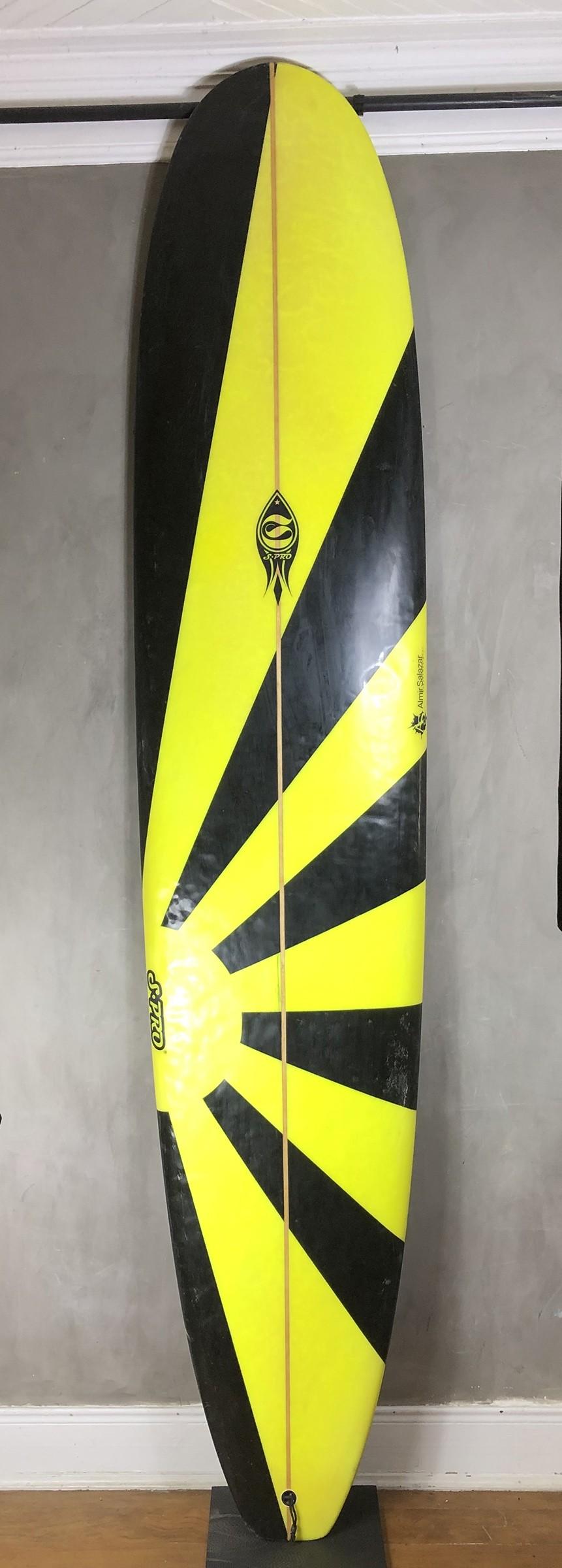 "Longboard Almir Salazar 9'2"" Preta/ Amarela Seminovo"
