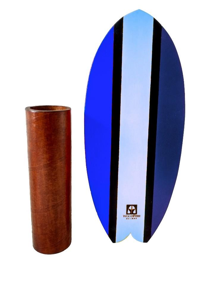 Prancha de Equilíbrio Wood Fish Tons de Azul - Edição Especial | Prancharia