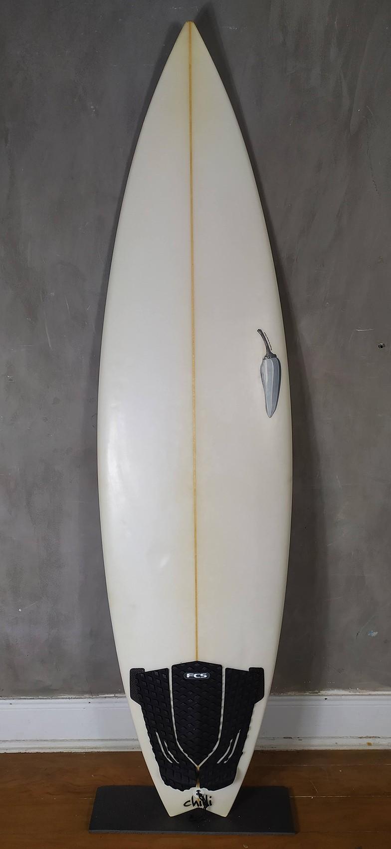 "Prancha de Surf Chilli 6'0"" Branca Seminova"