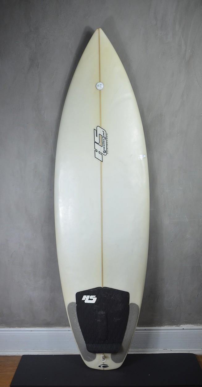 """Prancha de Surf Paulo Rabello 5'9"""" Branca Seminova"""