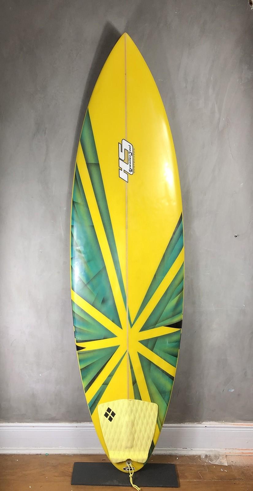 "Prancha de Surf Paulo Rabello 6'6"" Amarela Seminova"