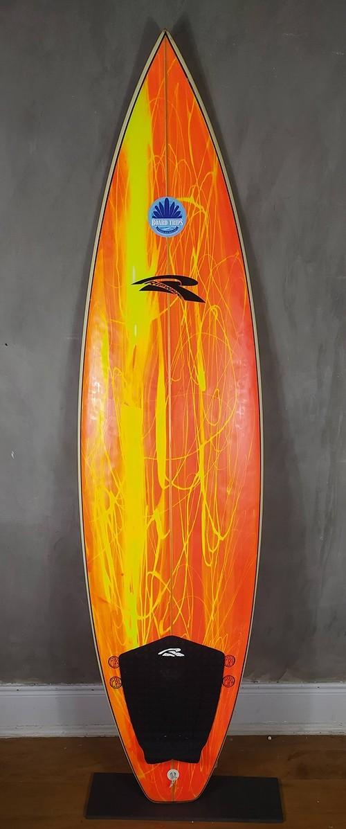 """Prancha de Surf Rip Wave 6'1"""" Laranja Seminova"""