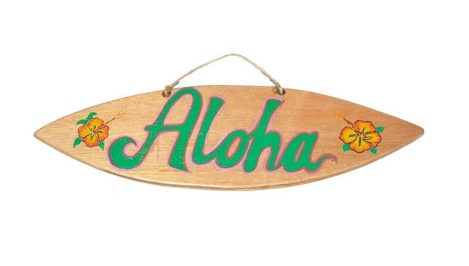 Pranchinha Decorativa Aloha Flor Hibisco Madeira Prancharia