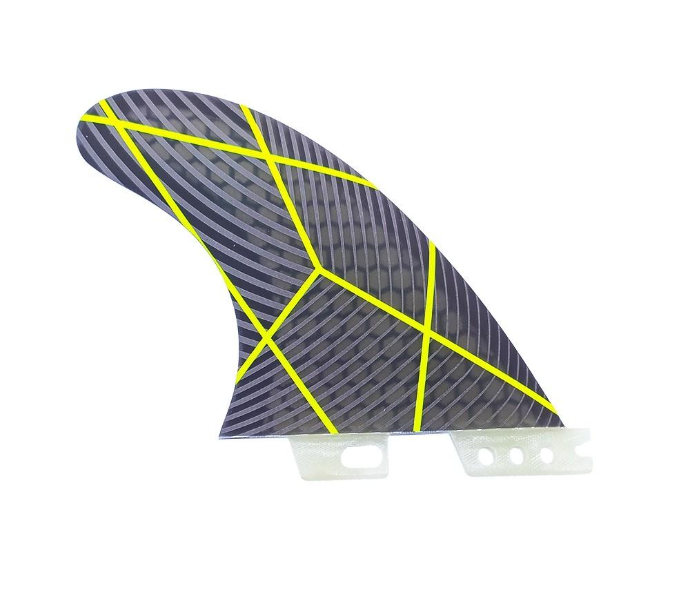 Quilhas FCS 2 Fibra de Vidro G5 Preta