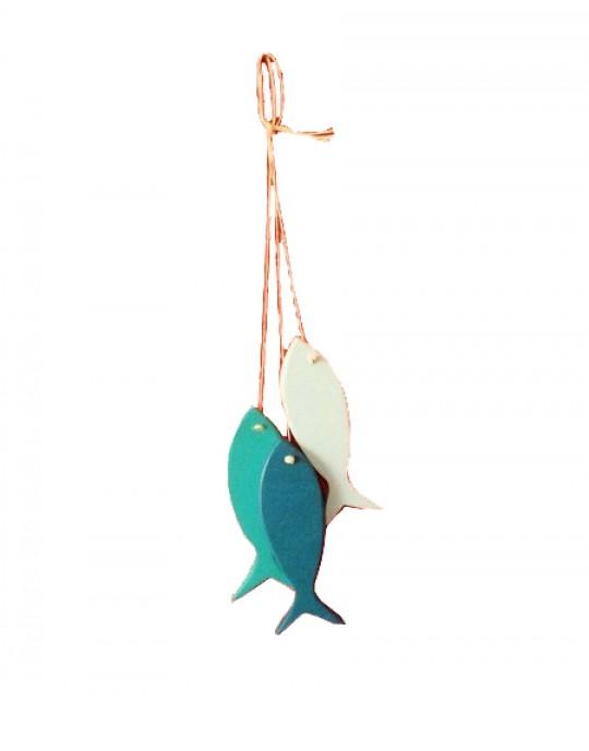 Conjunto de Peixes Decorativos WoodFish - Prancharia