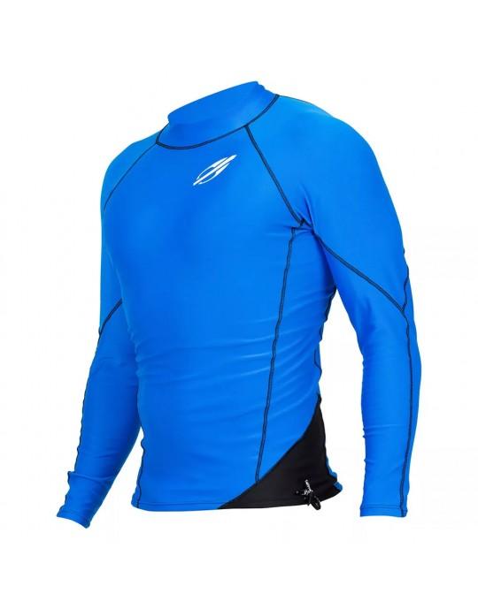 fbbee77b602fc Camisa Lycra Manga Longa Snap Mormaii UV50+ Azul Preto