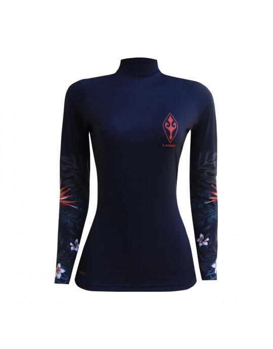 Camiseta Lycra Feminia Flowers Of The Sea EcoSurf Lord UV 50+