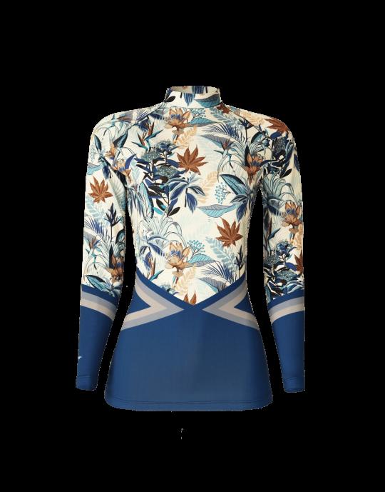 Camiseta Lycra Feminia Sea Flowers EcoSurf Lord UV 50+