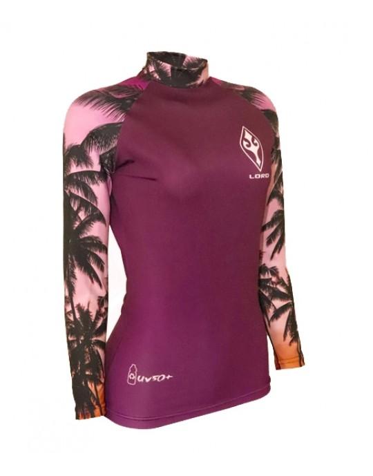 Camiseta Lycra Feminina Sunset Ecosurf UV50+ | Prancharia