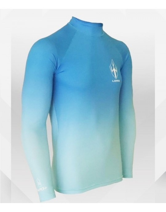 Camiseta Lycra Wave EcoSurf Lord UV 50+ Azul