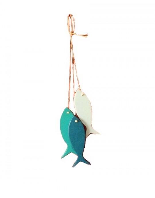 Conjunto de Peixes Decorativos WoodFish | Prancharia