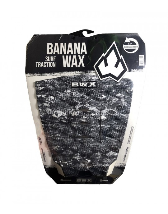 Deck Surf Banana Wax Thermo-Fresado Preto e Branco 3 Partes
