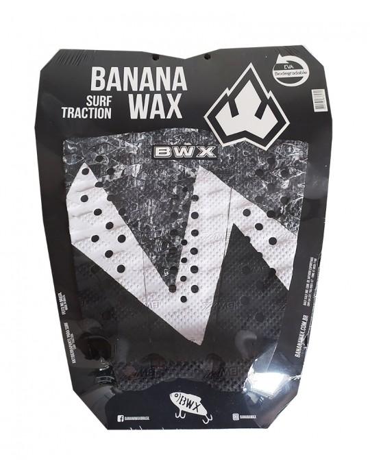 Deck Surf Banana Wax Thermo-Fresado Preto com CInza 3 Partes