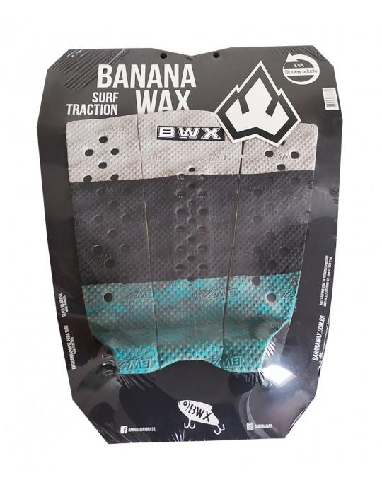 Deck Surf Banana Wax Thermo-Fresado Preto com Verde 3 Partes