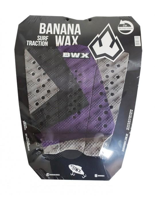 Deck Surf Banana Wax Thermo-Fresado Roxo e Preto 3 Partes
