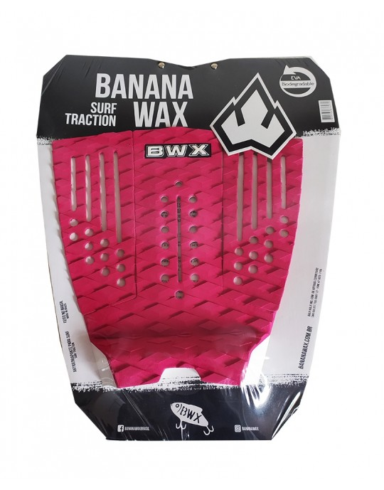 Deck Surf Banana Wax Thermo-Fresado Vermelho 3 Partes