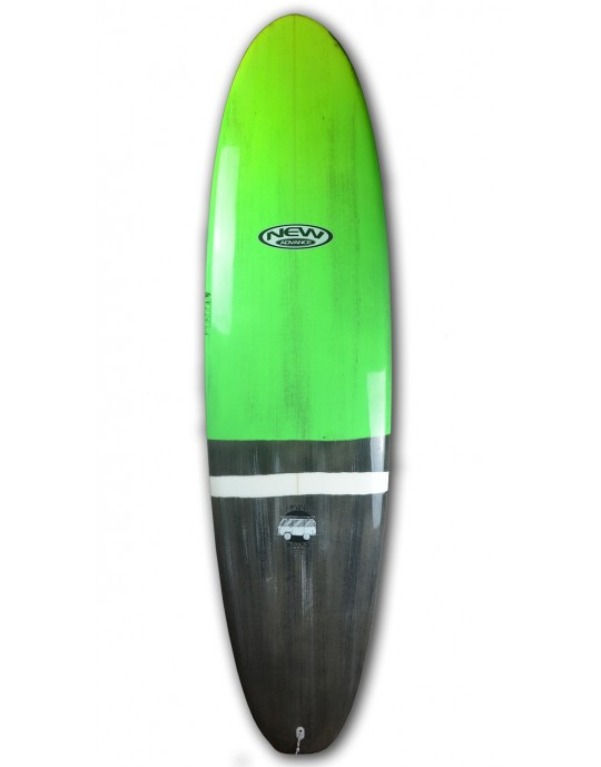 "Prancha de Surf Funboard New Advance 7'2"" Verde EPS + Epoxi"