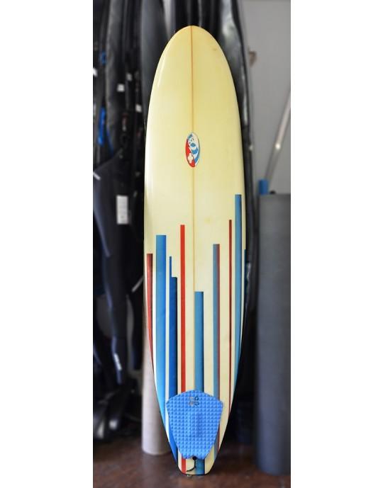 """Prancha de Surf Funboard 7'7"""" Tribosurf Seminova"""