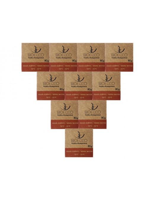 Kit Com 10 Parafinas Biodegradáveis Bioecco - Agua Quente Prancharia