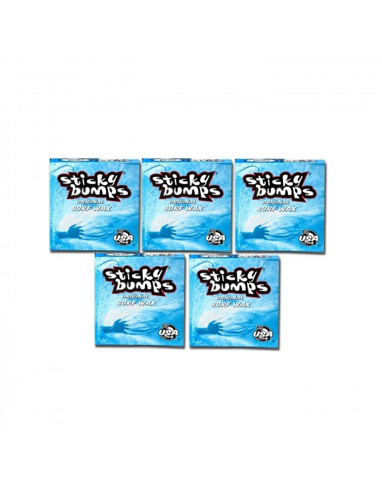 Kit com 5 Parafina Sticky Bumps - Cool | Prancharia