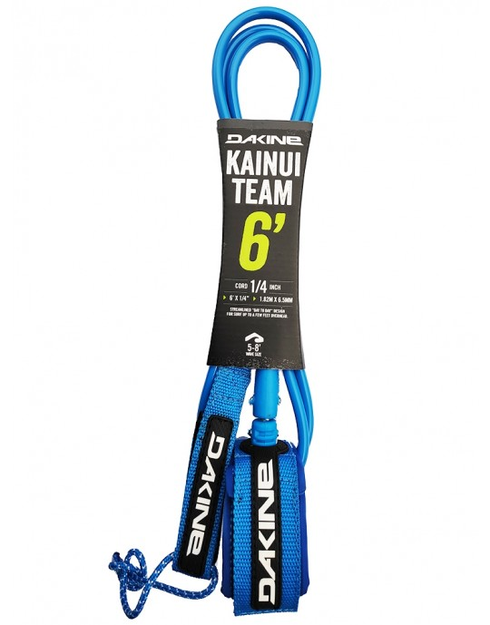 Leash Dakine - Kainui - Team - 6' x 6,5 mm - Azul | Prancharia