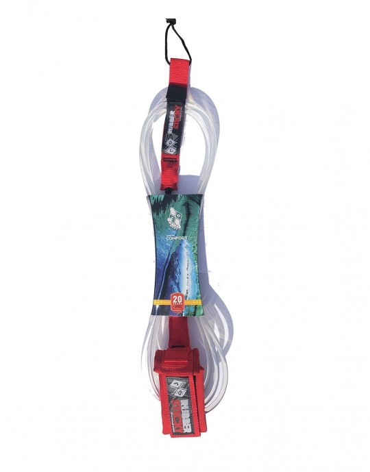 """Leash Funboard Rubber Sticky Confort 8'0"""" x 6,5 mm Prancharia"""