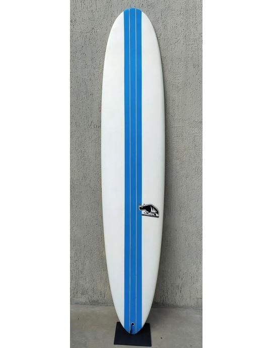 "Longboard 9'0"" Branco com Azul Marcelo Neto Seminovo"