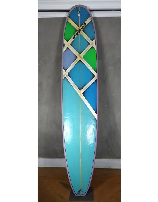 """Longboard 9'5"""" Cisco Colorido Seminovo"""
