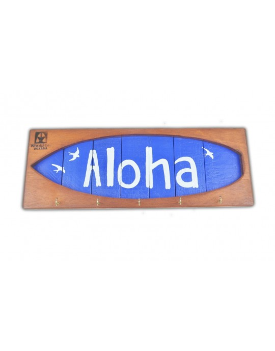 Shape Chaveiro De Surf Aloha Azul | Prancharia