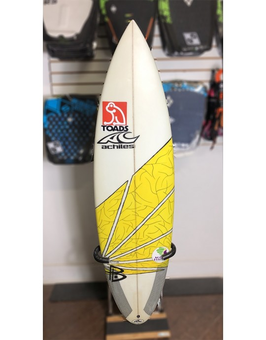 "Prancha de Surf Achiles Cerullo 6'0"" Amarela Seminova | Prancharia"