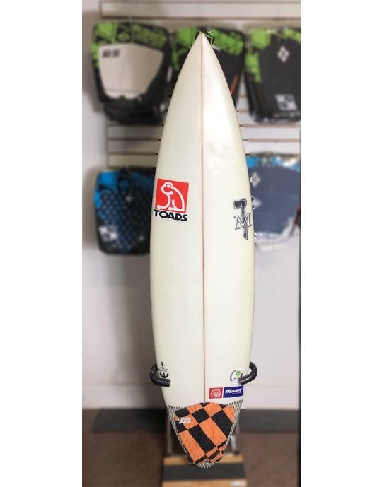"Prancha de Surf Achiles Cerullo 6'6"" Branca Seminova | Prancharia"