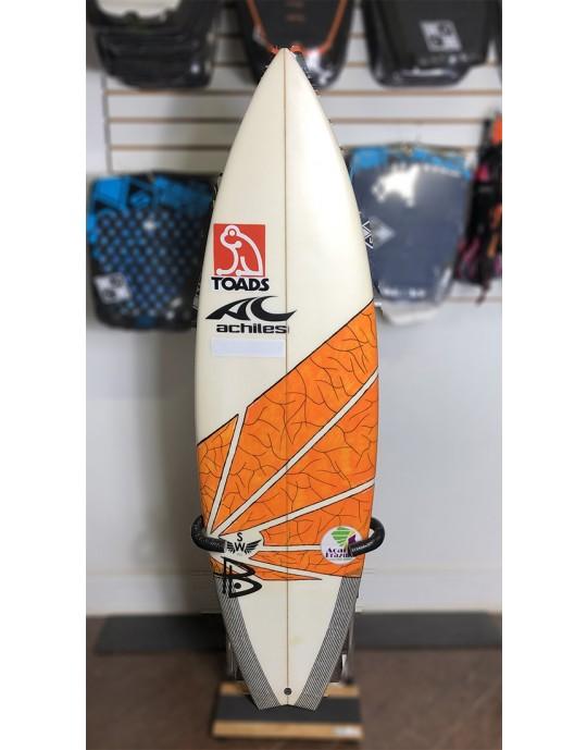 "Prancha de Surf Achiles Cerullo 5'7"" Laranja Seminova | Prancharia"