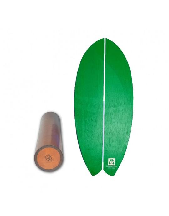 Prancha de Equilíbrio Wood Fish Verde   Prancharia