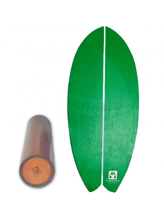 Prancha de Equilíbrio Wood Fish Verde | Prancharia