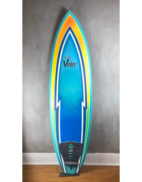 "Prancha de Surf Evolution Sal 6'8"" Azul Seminova"