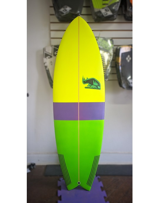 "Prancha de Surf Fish Marcelo Neto 5'10"" Amarela"
