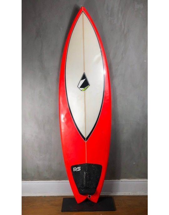 "Prancha de Surf Fish Zampol 6'0"" Vermelha Seminova"