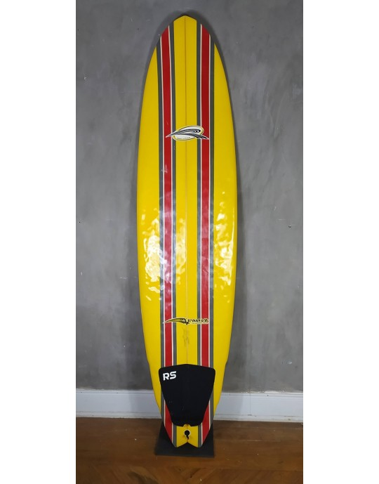 "Prancha de Surf Funboard Beto Loureiro 7'2"" Amarela Seminova"