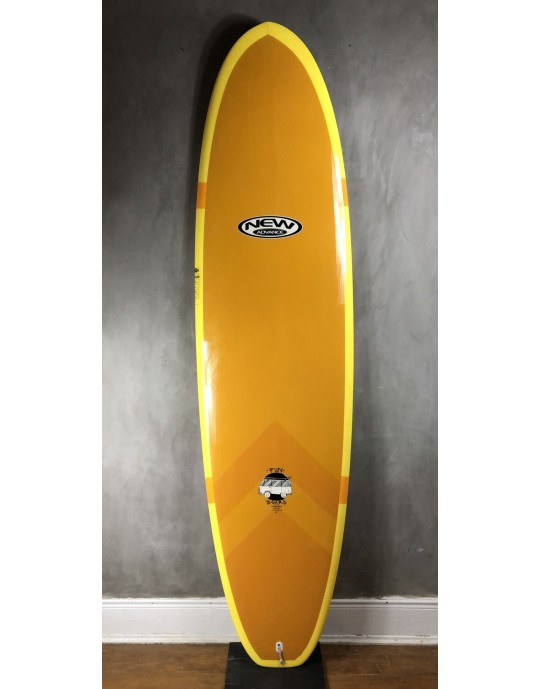 "Prancha de Surf Funboard New Advance 7'2"" Marrom EPS + Epoxi"