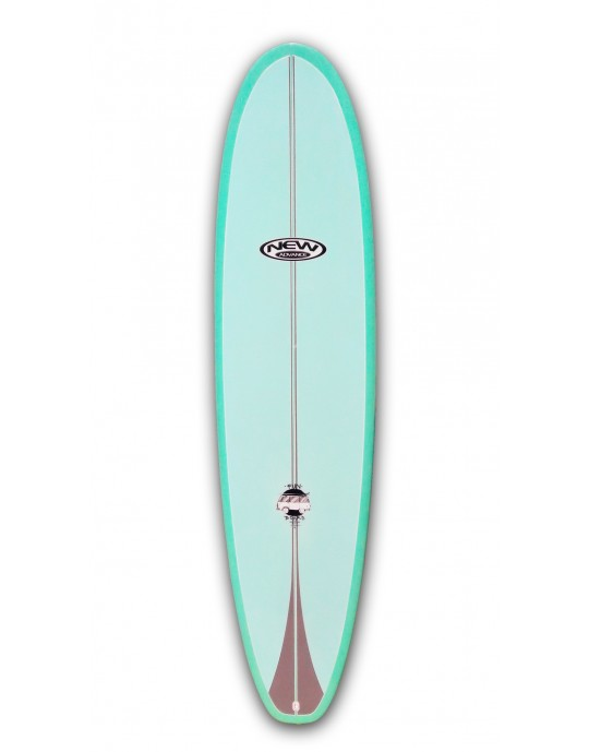 """Prancha de Surf Funboard New Advance 7'6"""" Verde EPS + Epoxi"""