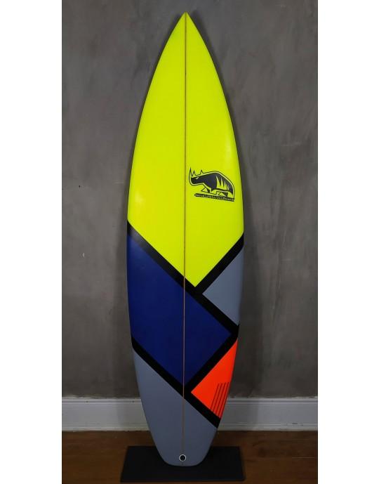 """Prancha de Surf Marcelo Neto 5'10"""" Amarela/Azul"""