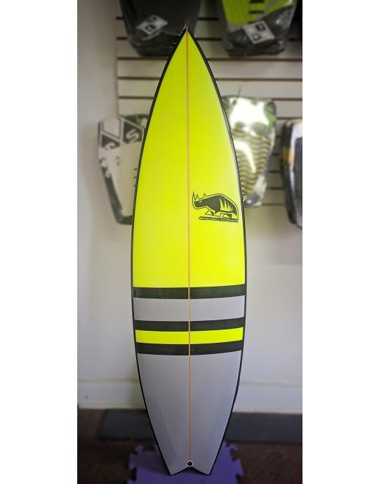 """Prancha de Surf Marcelo Neto 5'10"""" Amarela e Cinza"""