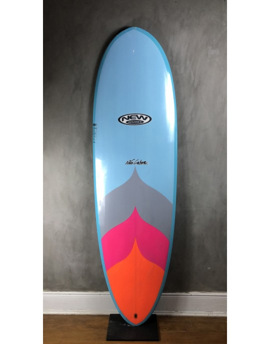 "Prancha de Surf Mini Long New Advance 6'6"" Azul EPS + Epoxi"