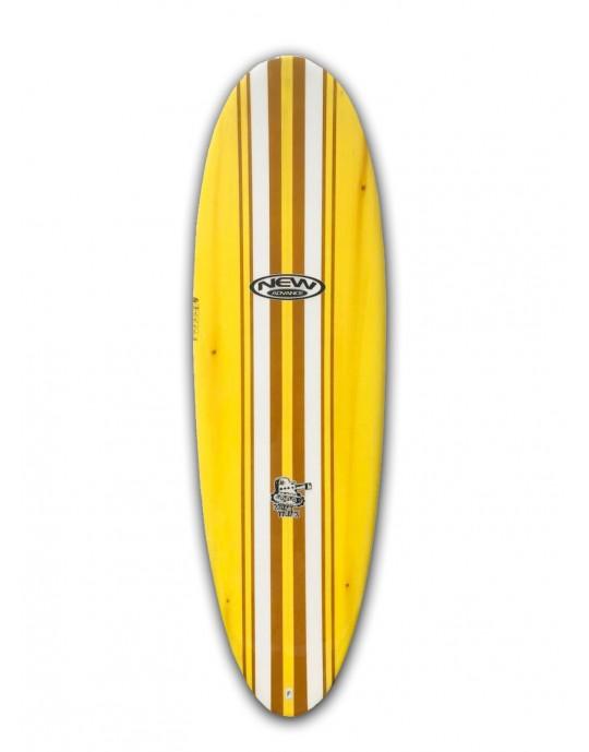 "Prancha de Surf Mini Tunk New Advance 6'6"" Amarela EPS + Epoxi"