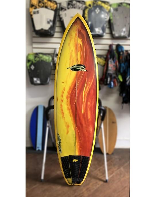 "Prancha de Surf Rip Wave 6'3"" Amarela Seminova | Prancharia"