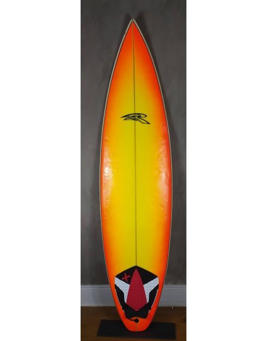 "Prancha de Surf Rip Wave 6'4"" Laranja com Branco Seminova"